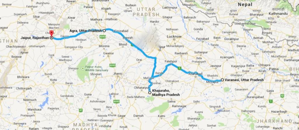 india itinerario viaggio