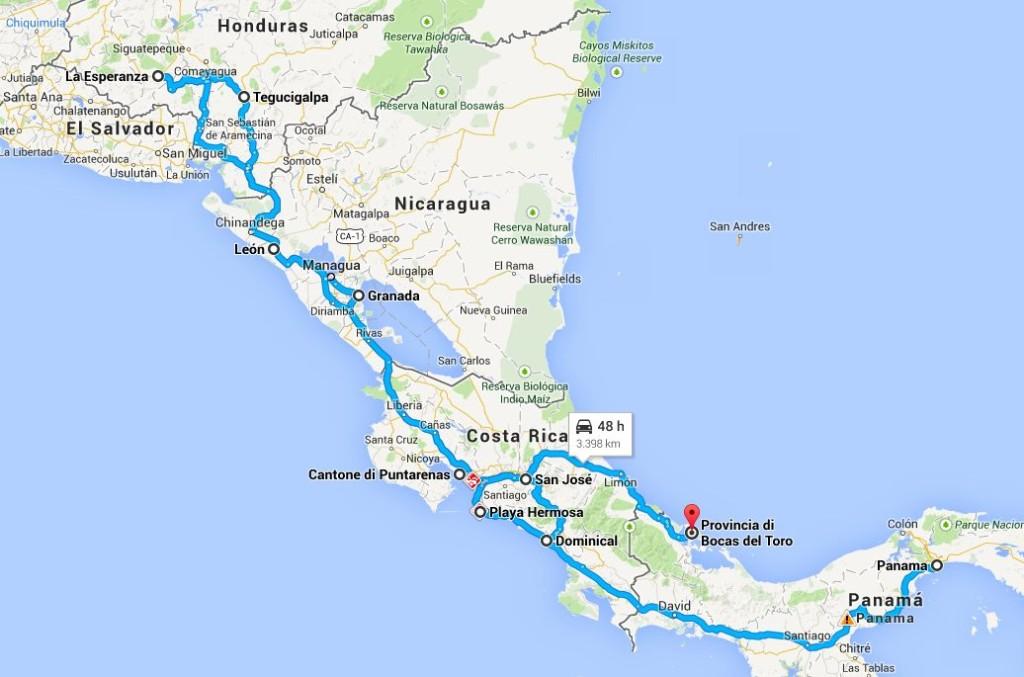 itinerario centroamerica