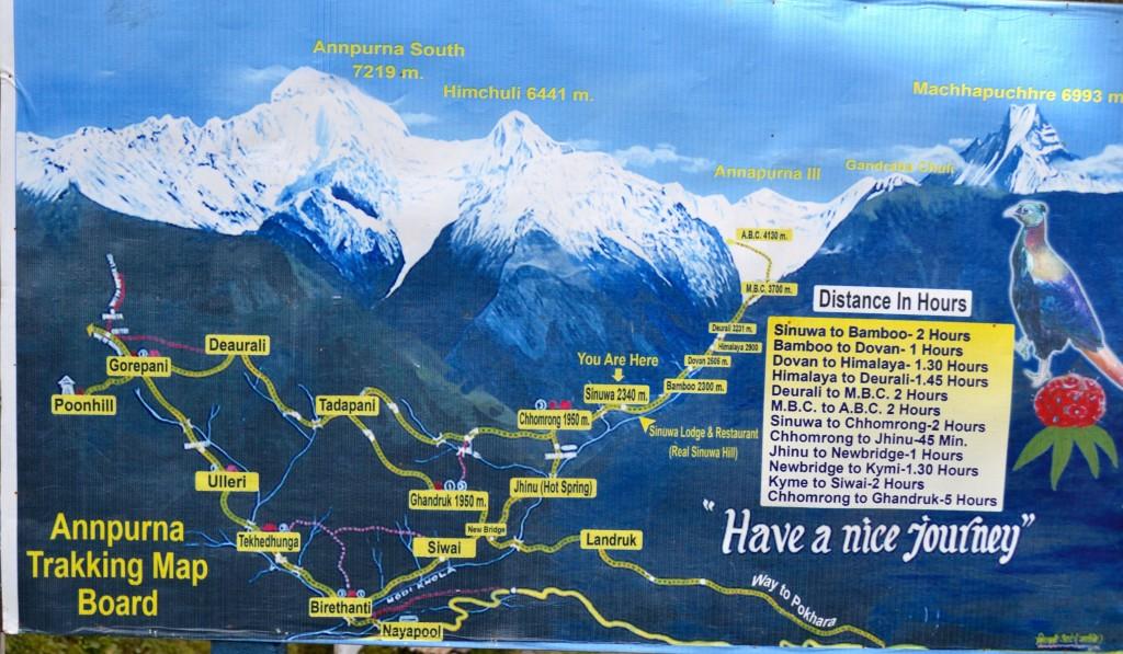 itinerario trekking annapurna
