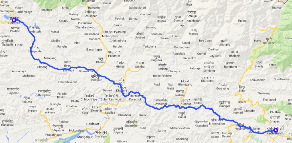 nepal itinerario
