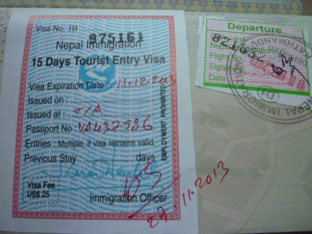 nepal visto
