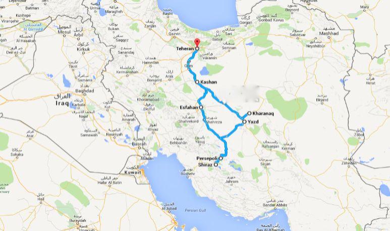 iran itinerario