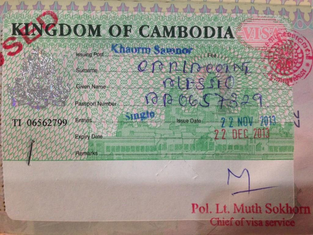 cambogia visa
