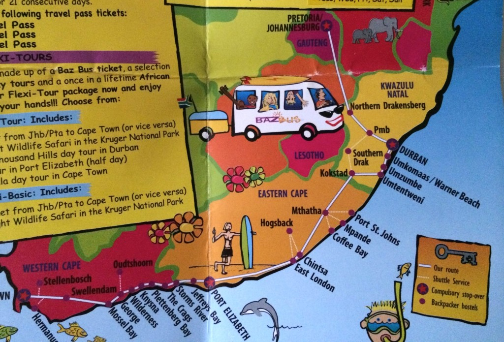 baz bus mappa