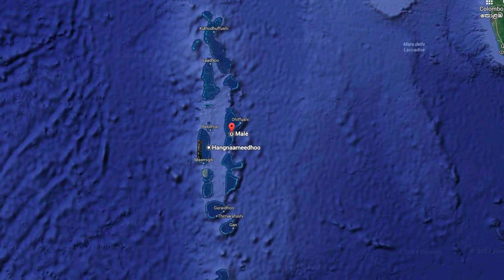 Le Maldive viste dall'alto