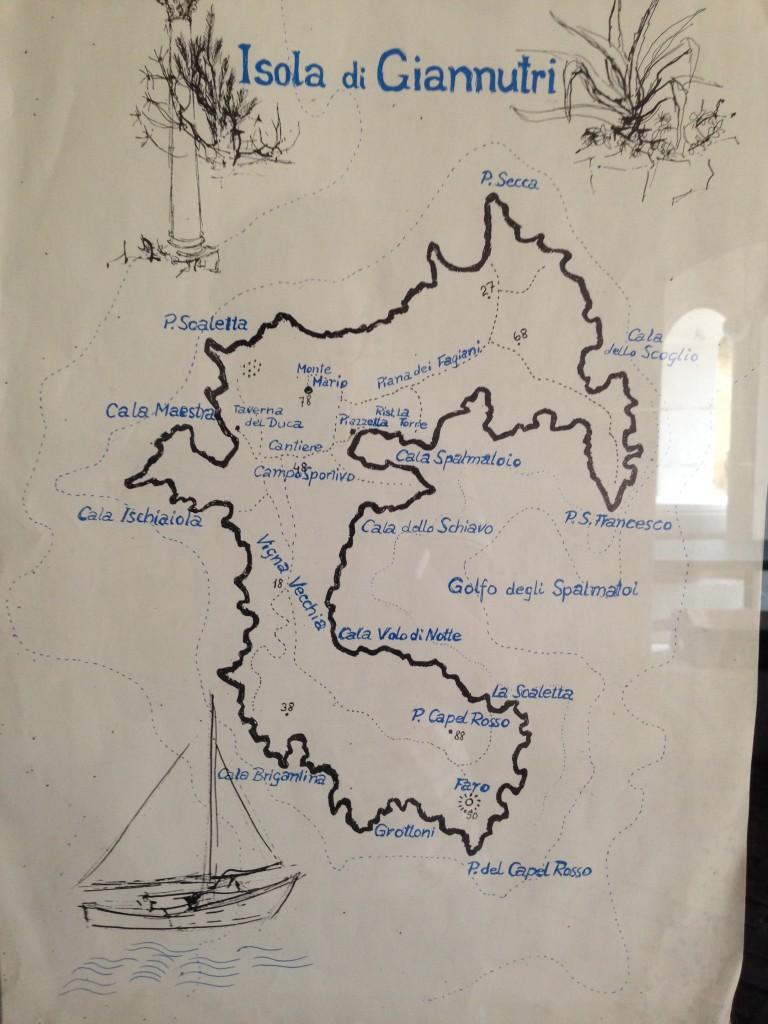 mappa isola giannutri