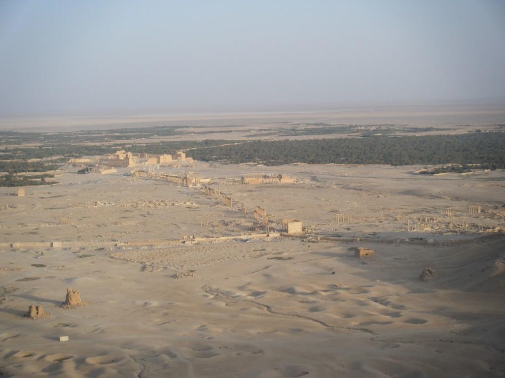 Palmira vista dall'alto
