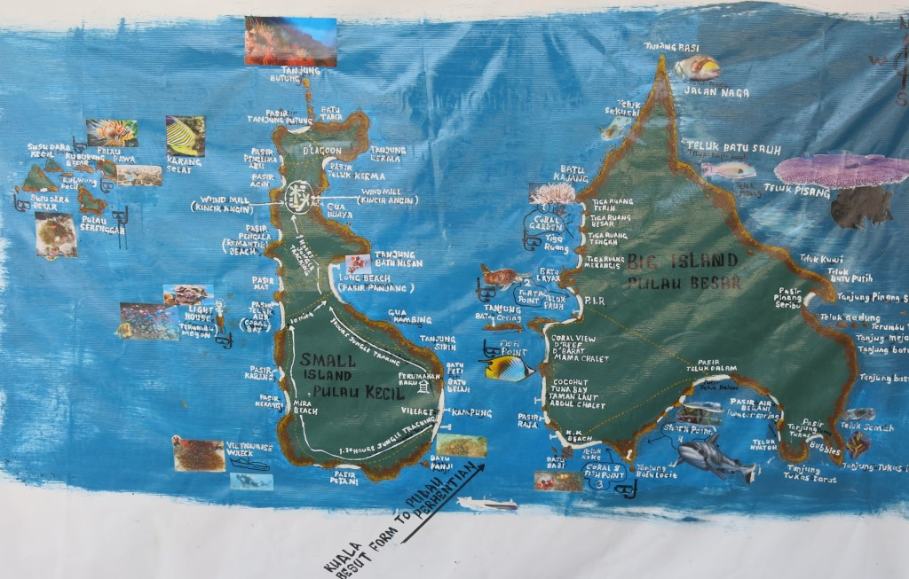Perhentian Island map