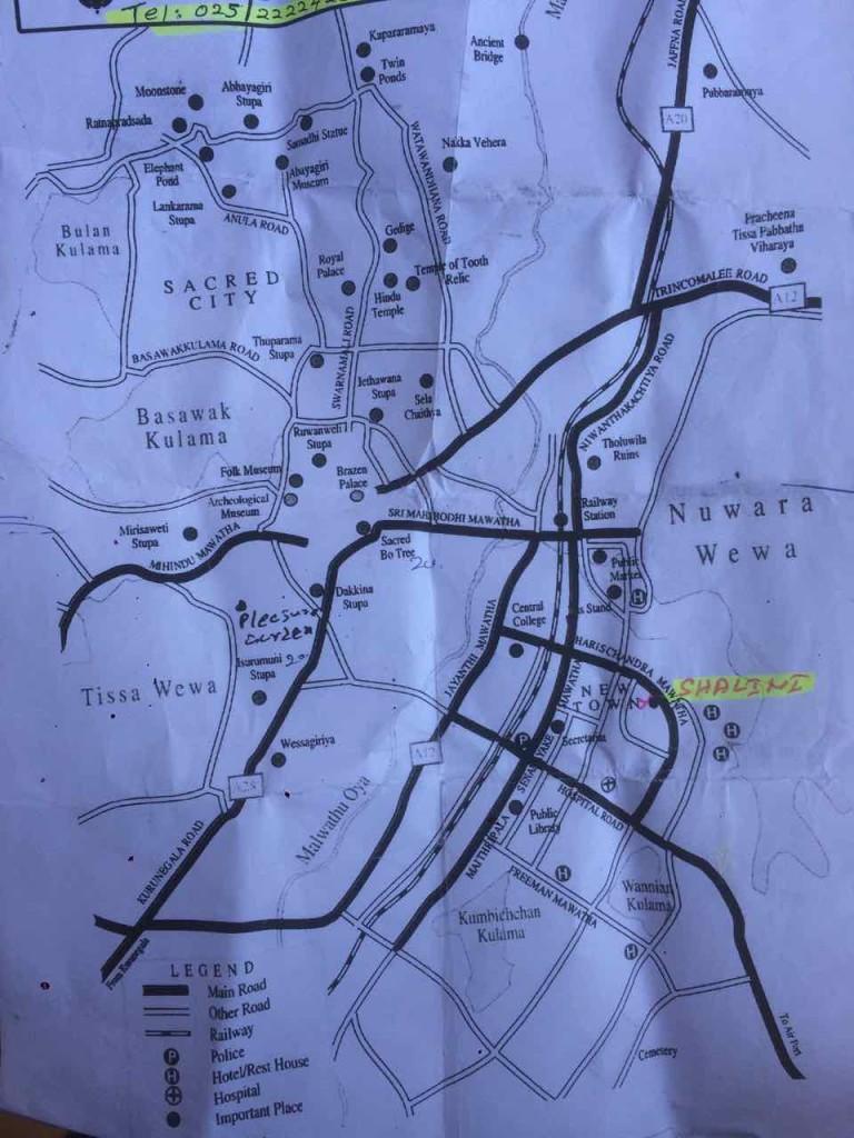 anuradhapura mappa