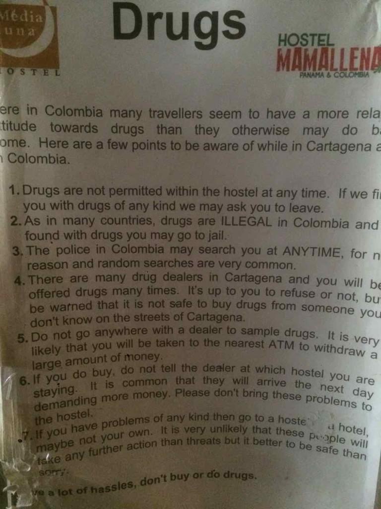cartagena droga