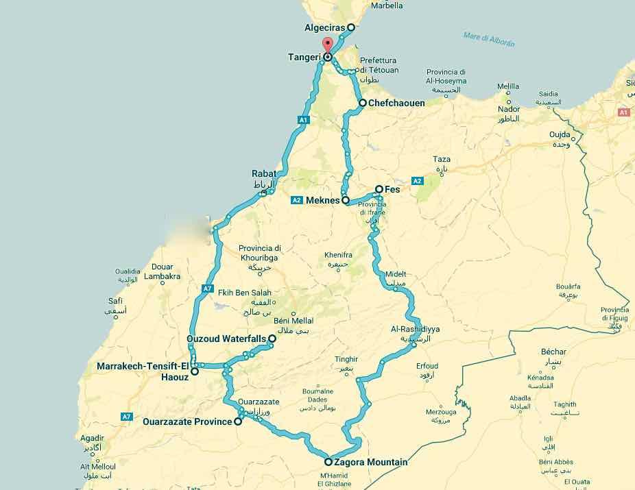 marocco itinerario viaggio