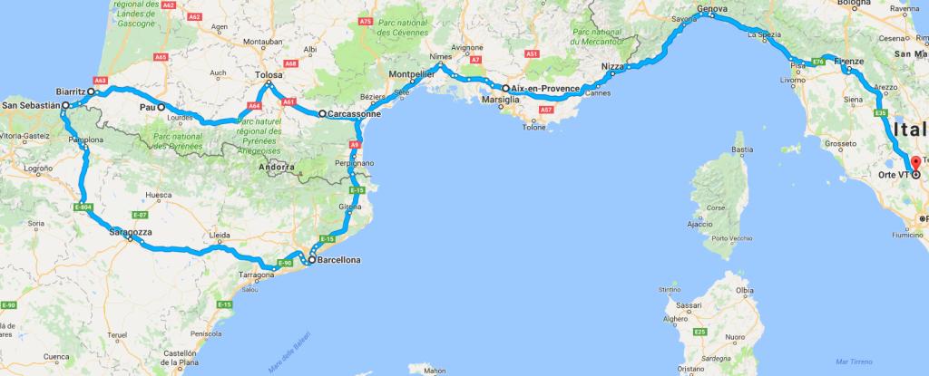 francia-spagna-itinerario