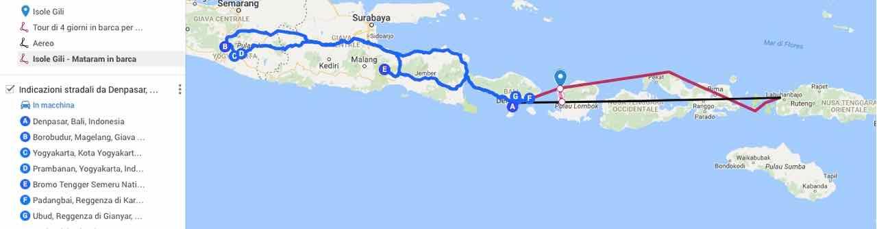 indonesia-itinerario