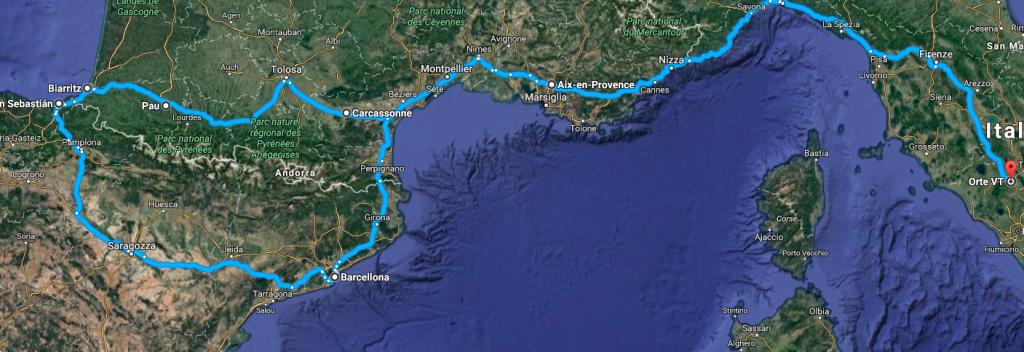 spagna-francia-itinerario