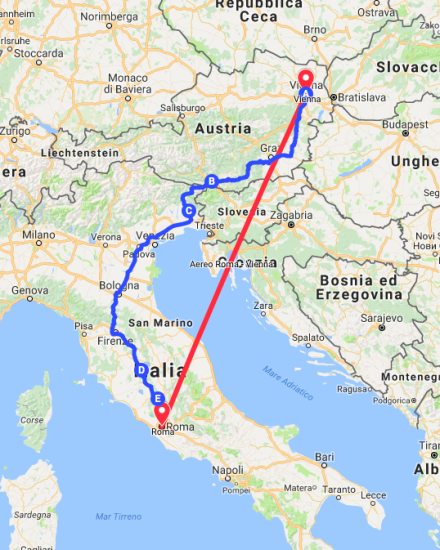 vienna-itinerario