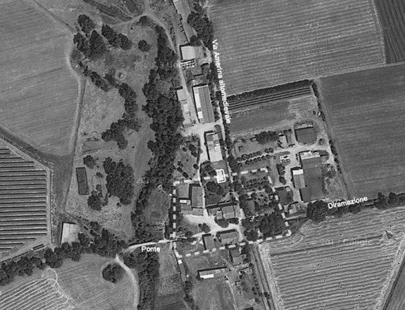 La zona del Castello di Bagnolo vista dall'alto