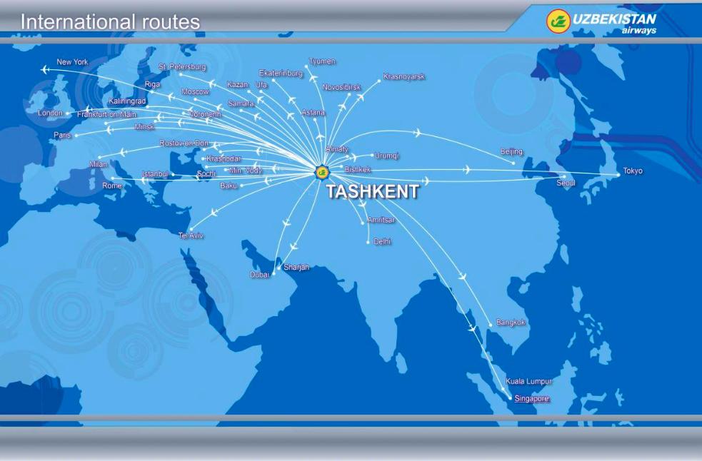 Voli internazionali dell'Uzbekistan Airways