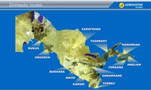 I voli nazionali dell'Uzbekistan Airways