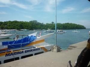 Il piccolo porto di Padangbai