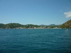 Labuan Bajo visto dal mare