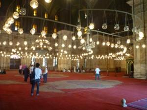 L'interno della Moschea di Alabastro