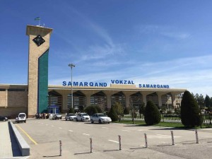 Samarcanda diario viaggio - La stazione ferroviaria