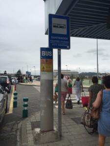 Aeroporto Santander - Il punto da dove partono tutti i bus