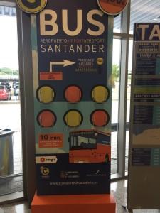 Il bus per la città di Santander