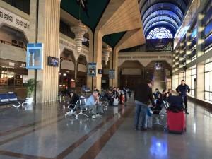 Da Samarcanda a Tashkent in treno - L'interno della stazione di Samarcanda