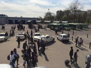 Una delle stazione dei bus e taxi di Tashkent
