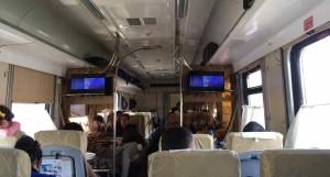 Da Samarcanda a Tashkent in treno - L'interno dello Sharq
