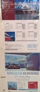 Parco del Paine come muoversi - Gli orari della navigazione sul lago Grey