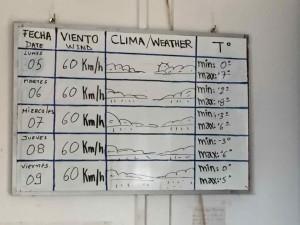 Parco del Paine informazioni - Il tempo a Giugno