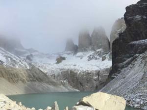 La vista sulle Torri del Paine