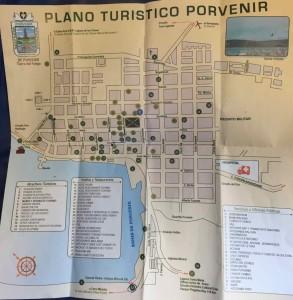 Porvenir Cile - Mappa della città