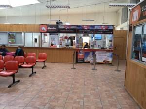 Punta Arenas trasporti - L'interno della stazione della Bus-Sur