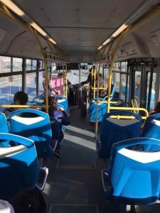 Punta Arenas trasporti - L'interno dei bus locali
