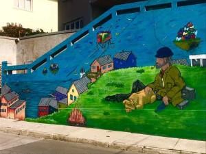 Uno dei tanti murales di Valparaiso