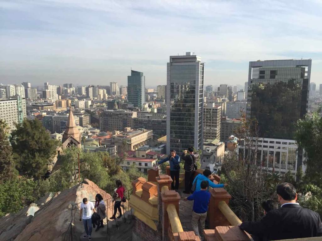 Santiago del Cile cosa vedere - Panorama dal Cerro Santa Lucia