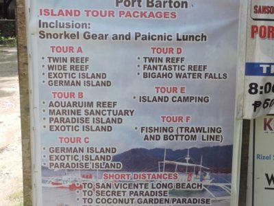 Port Barton cosa vedere e cosa fare