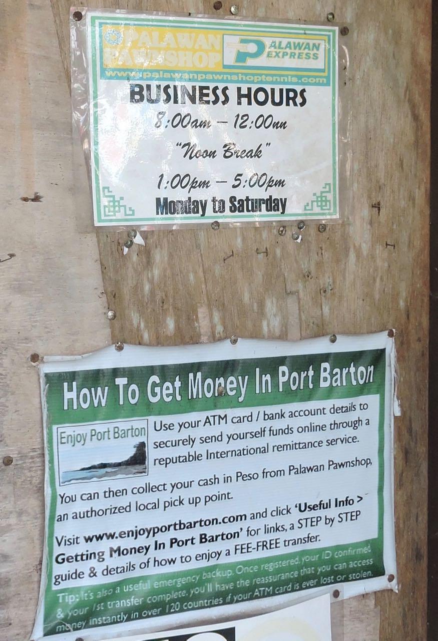 Port Barton informazioni utili
