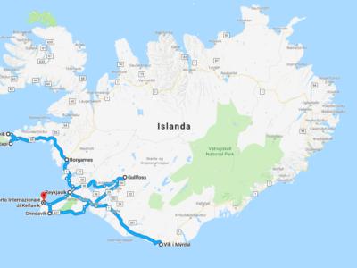 Islanda itinerario e mappe del viaggio