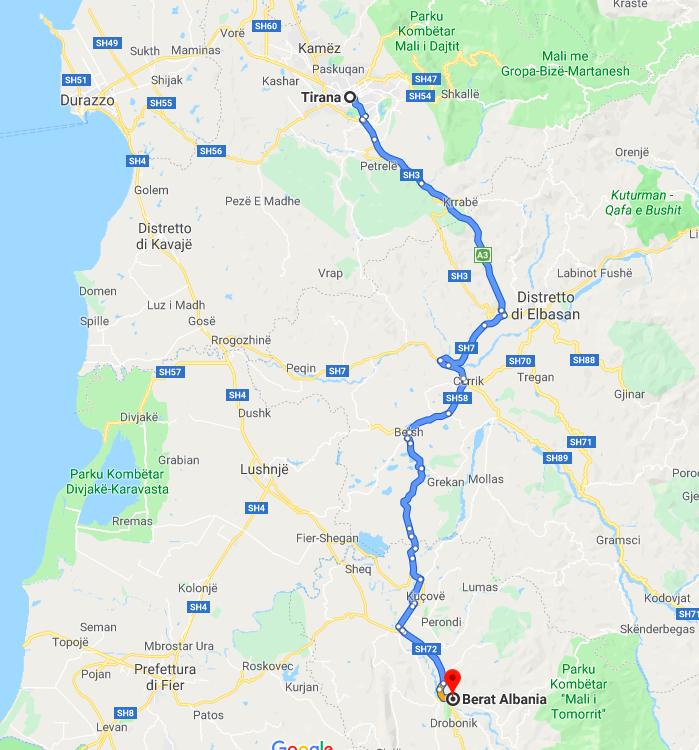 Albania itinerario: Tirana / Berat
