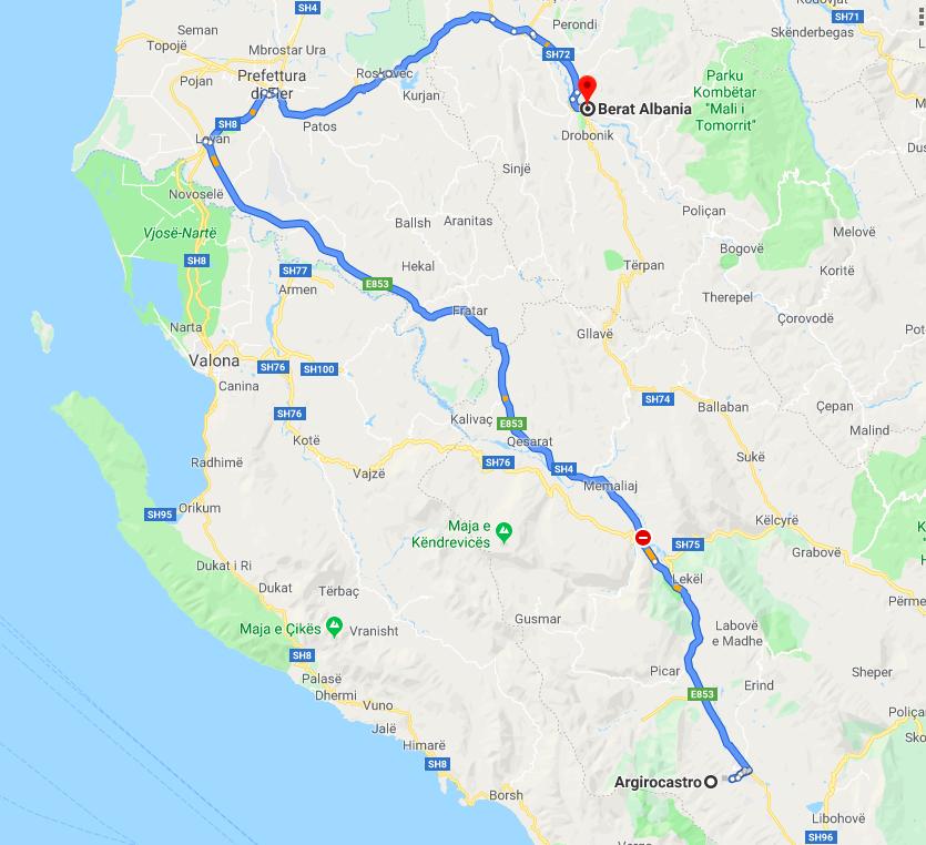 Albania itinerario: Berat / Girocastro