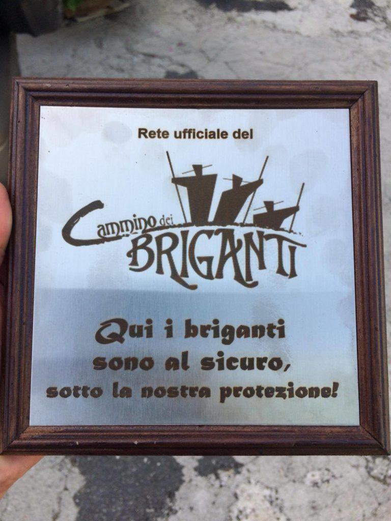 La mappa del Cammino dei Briganti